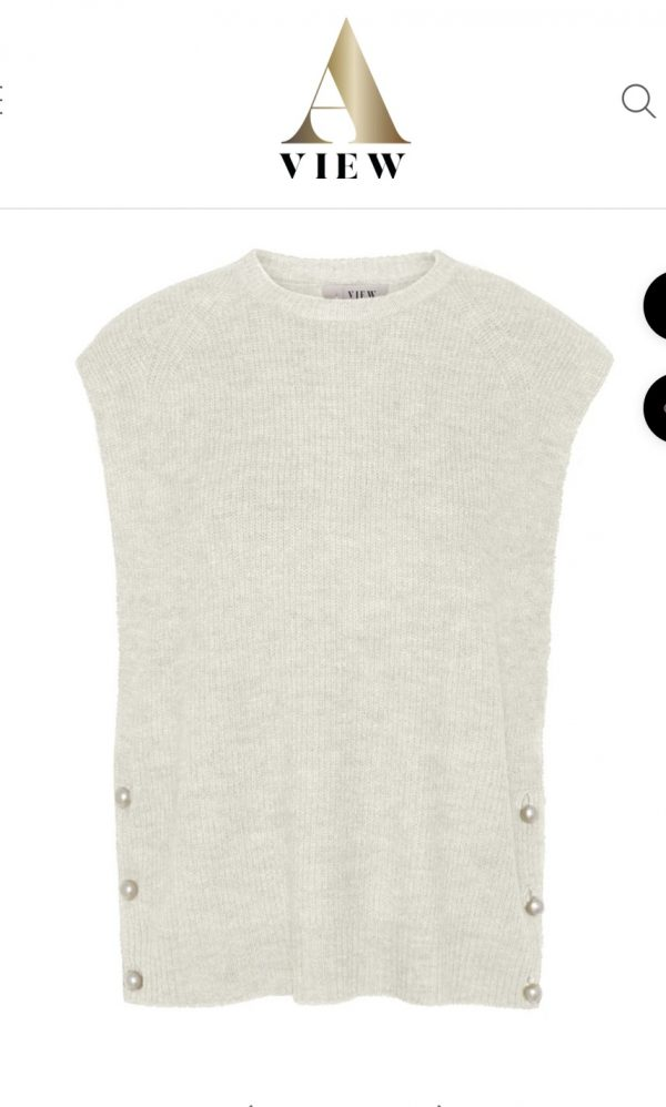 Aview Ozilla Knit Vest in Off White