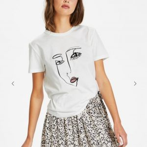 Soaked in Luxury SLLash T-Shirt Broken White