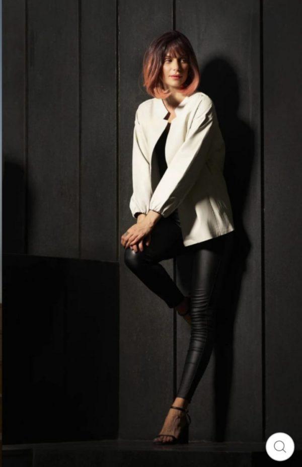 CIGNO NERO Portbou Leather Jacket - Cashmere