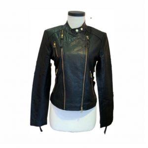 CIGNO NERO Black Leather Jacket - Cool