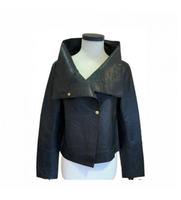 CIGNO NERO Leather Jacket Nice in Ivory