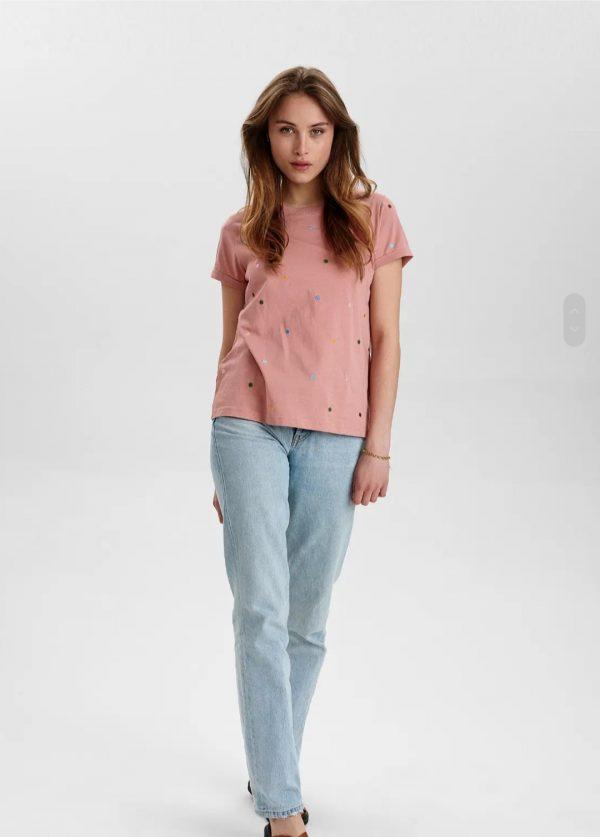 Numph Nubrennan T-Shirt in Ash Rose