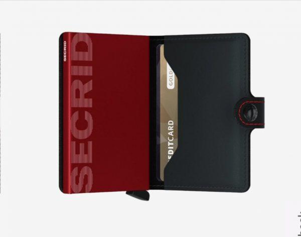 Secrid Miniwallet Matte Black and Red