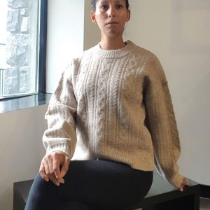 A-View Pica Knit Pullover Ecru Khaki