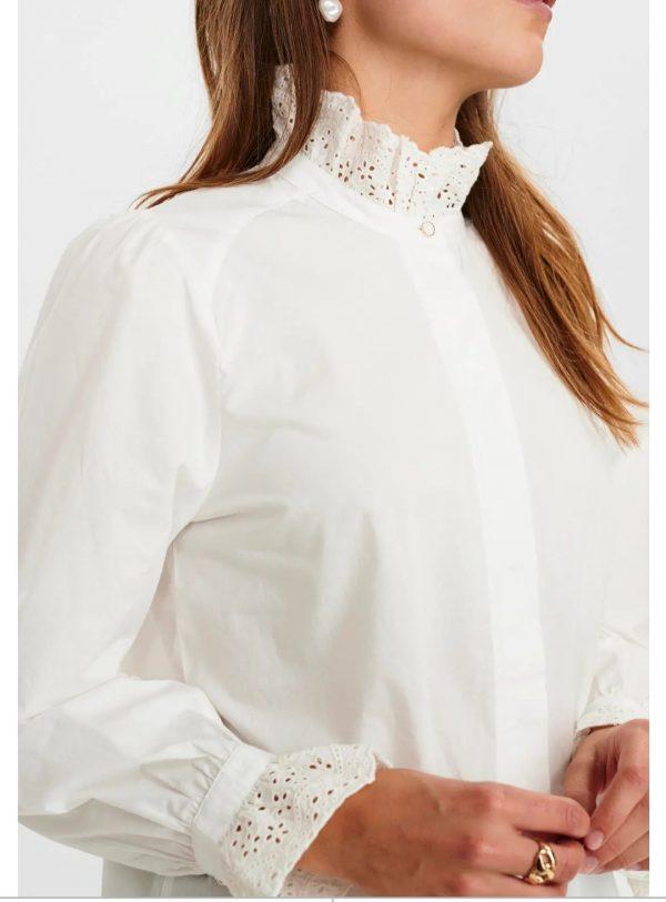 Numph NuBarbara Shirt in Bright White