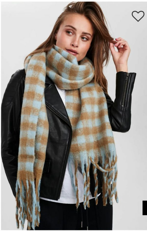 Numph Nukitten Check Scarf Cathay Spice