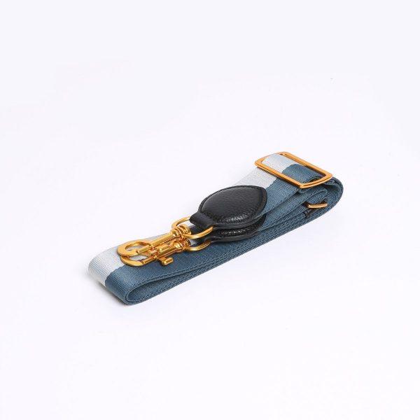 Smaak Adjustable Shoulder Strap in Grey/ Patrol Gold Hardware