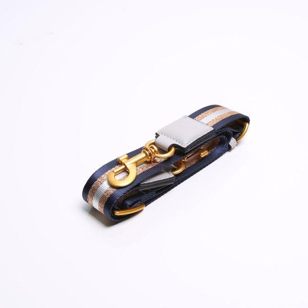 Smaak Adjustable Shoulder Mist Strap in Gold/ Navy With Gold Hardware