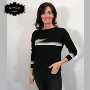 Luella Knitwear Ziggy Black Multi