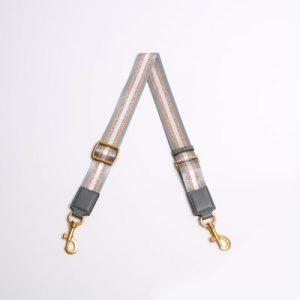 Smaak Adjustable Shoulder Strap in Anthracite/ Gold With Gold Hardware