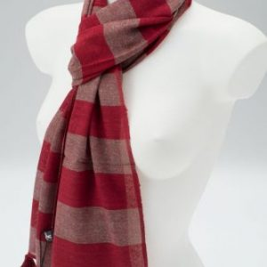 York Scarves Silk Blend Winter Scarf Maroon