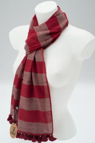 York Scarves Silk Blend Winter Scarf Maroon