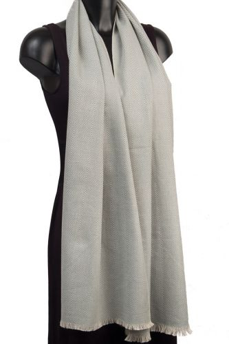 York Scarves Cotton Winter Scarf in Silver