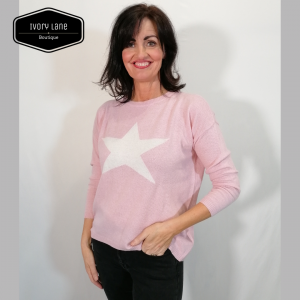 Luella Classic Star Jumper in Pink\White