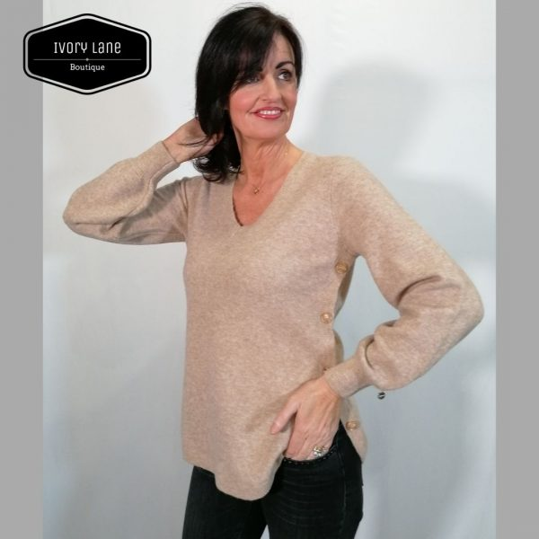 Pieszak Kira long V Neck Beige