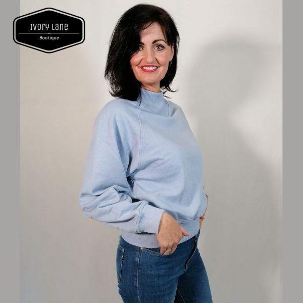 Soaked in Luxury SLBritta Sweatshirt Cashmere Blue