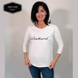 Chalk Tasha Weekend Top White
