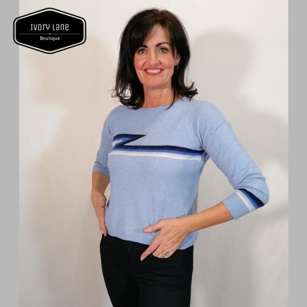 Luella Ziggy Cashmere blend Blue Jumper