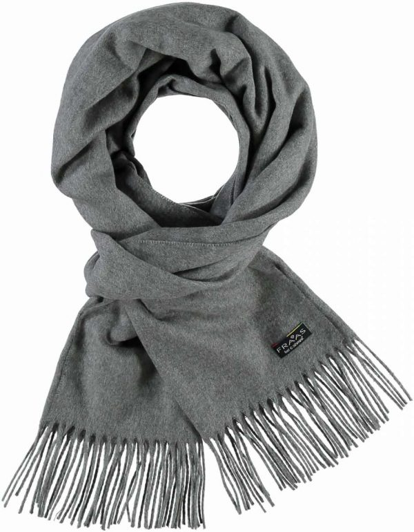 Fraas Pure polyacrylic Scarf Mid Grey
