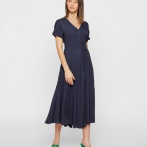 Soaked in Luxury Veda Navy Dress