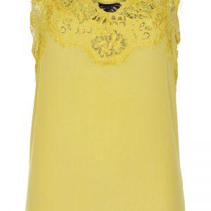 Soaked In Luxury Clara Singlet in cream gold yellow