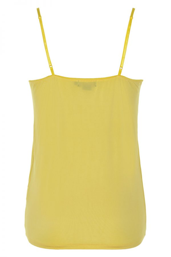 Soaked In Luxury Clara Singlet in cream gold yellow