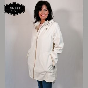Ilse Jacobsen Raincoat 135B White Sugar