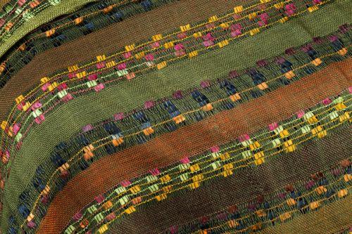 York Scarves Soft Striped Scarf in Olive