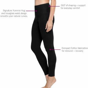 Yummie Black Rachel Cotton Stretch Shaping Legging