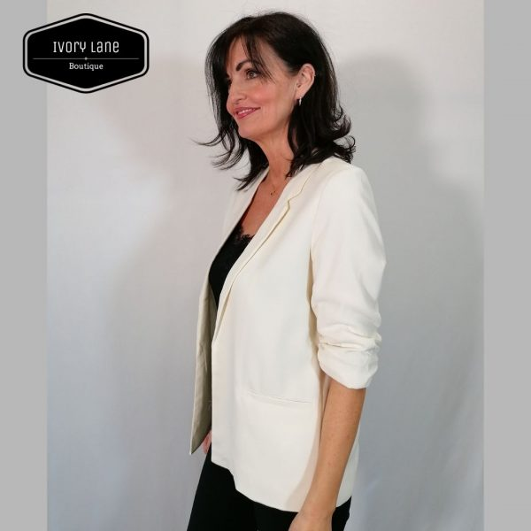 Soaked in luxury Shirley Blazer Antique White