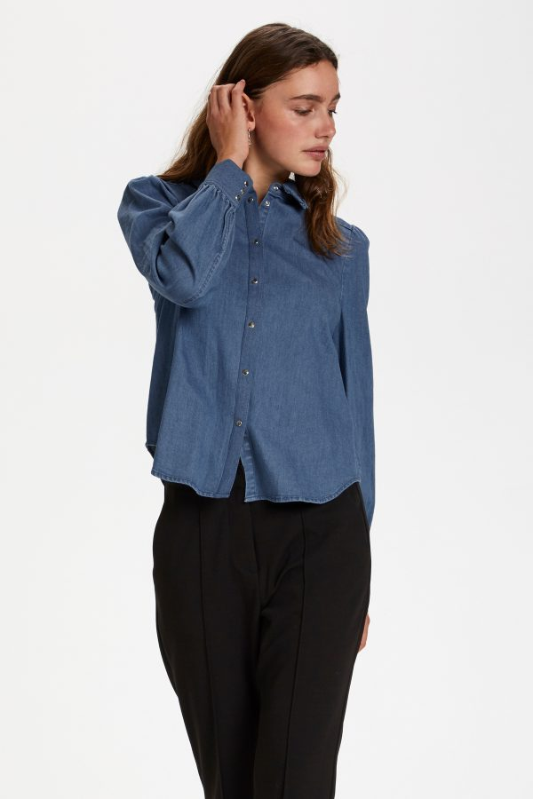 Soaked in Luxury Tinatin Denim Shirt