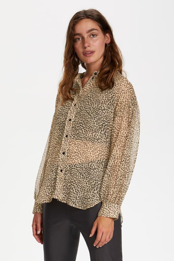 Soaked in Luxury Amos Blouse Mini Leopard Dot