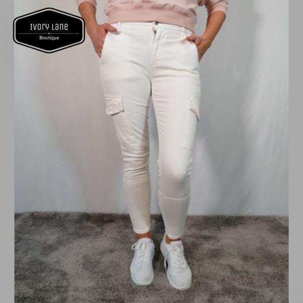 Pieszak Poline Cargo Jeans Creme