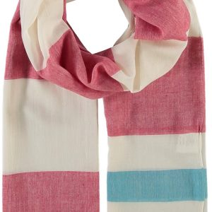Fraas Sail Stripes Cotton Blend Woven Scarf Classic Red