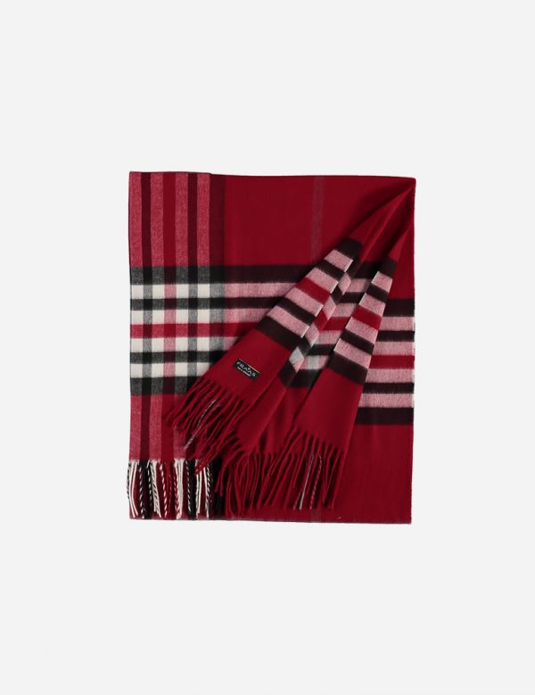 Fraas red plaid scarf