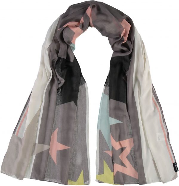 Fraas All-star Polyester Printed Scarf Light Grey