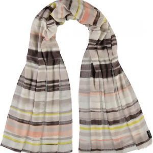 Fraas Pool Glow Stripes Polyester Printed Scarf Taupe