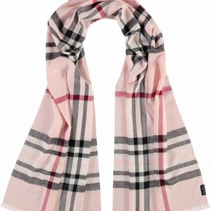 Fraas pink plaid scarf