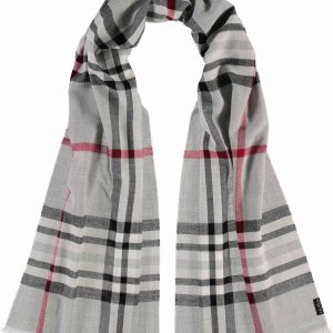 Fraas grey plaid scarf