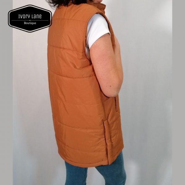 A View Michel Puffer Vest Brown