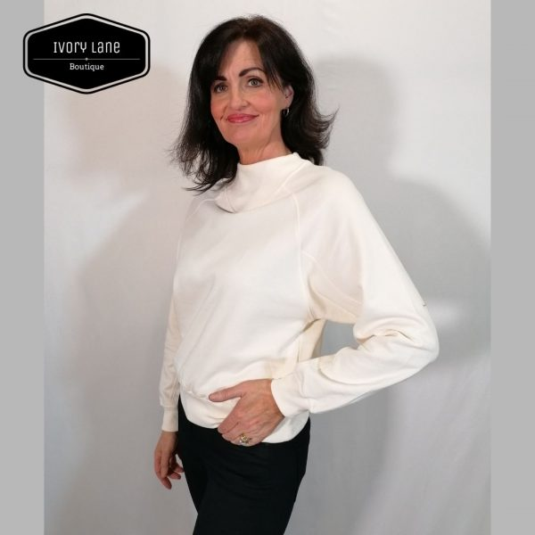 Soaked in Luxury SLBritta Sweatshirt Whisper White