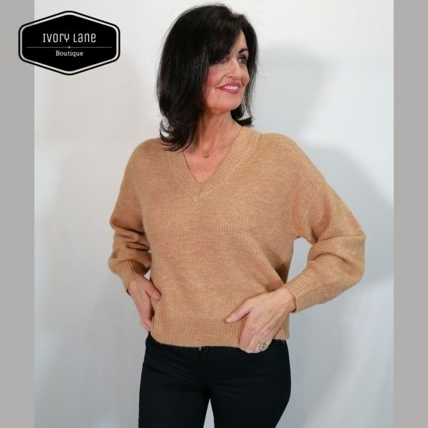 A-View Marlene Knit Pullover Camel