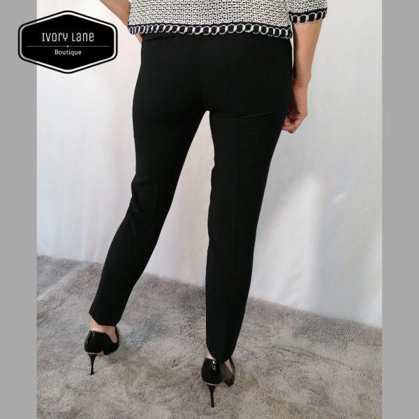 Access Fashion Black Crepe Straight Pants