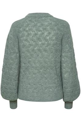 Soaked in Luxury Tuesday Pointa Pullover LS Hedge Green