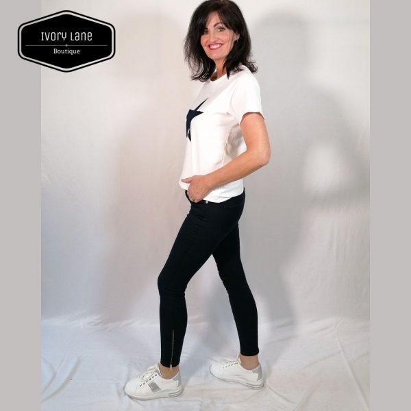 Pieszak Paulina Swan ankle navy blue