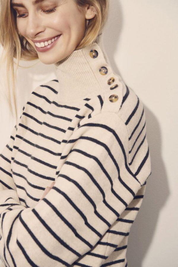 Soaked in Luxury Lyrica Stripe Pullover