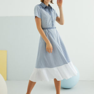 Perspective Amadas Elbise Dress in Indigo