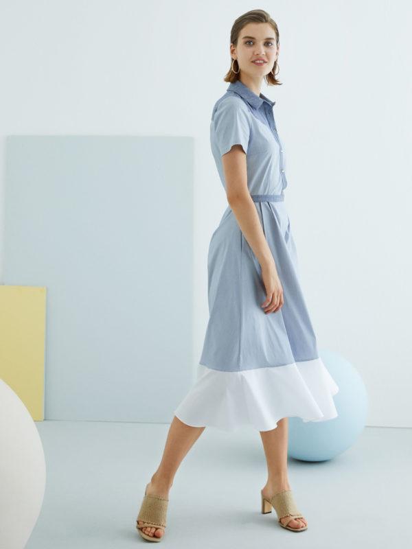 Perspective Amadas Elbise Dress in Indigo