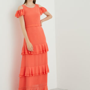 Perspective Orange Feo Elbise Dress