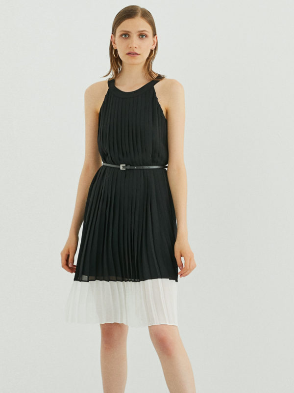 Perspective Feo Elbise Dress in Black